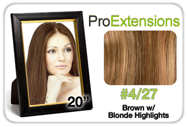 """Pro Lace 20"""", #4/27 Brown w/Blonde Highlights"""