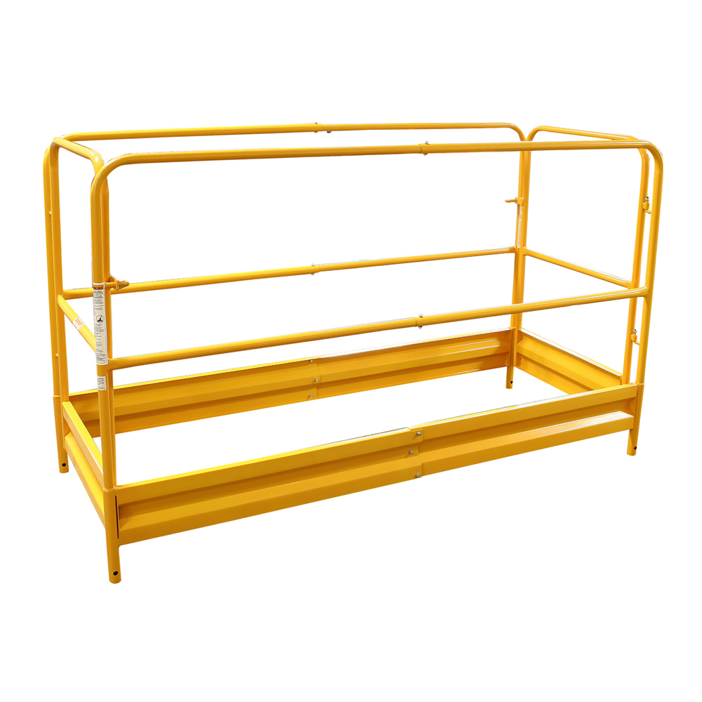 Pro-Series Painting Patching Drywall Window Cleaning 6Foot Scaffolding Guard Rail System Yellow