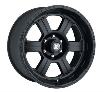 Series 7089, 17x8 with 6 on 4.5 Bolt Pattern - Flat Black Machined