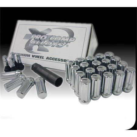 "24-Piece 14x1.5"" Chrome H/T Lug Nut Kit"