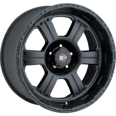 Series 7089, 17x8 with 5 on 4.5 Bolt Pattern - Flat Black