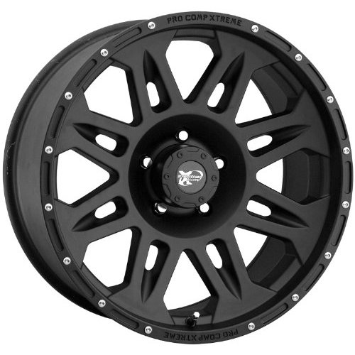 Series 7005, 17x9 with 5 on 4.5 Bolt Pattern - Flat Black