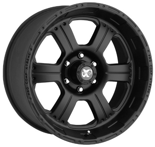 Series 7089, 16x8 with 5 on 5 Bolt Pattern - Flat Black