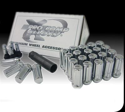"32-Piece 14x2.0"" Black Lug Nut Kit"