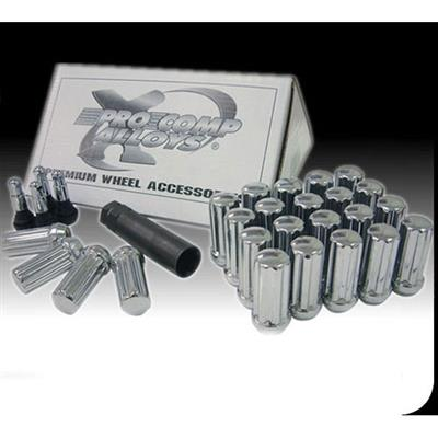 "32-Piece 9/16"" Black Lug Nut Set"