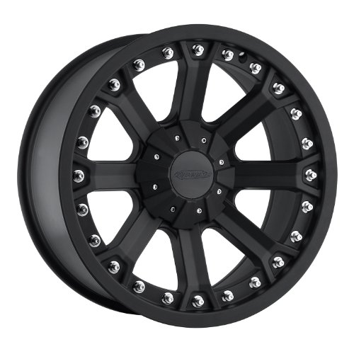 Series 7033, 17x9 with 5 on 5 Bolt Pattern - Flat Black
