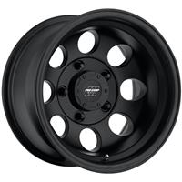Series 7069, 17x9 with 5 on 5 Bolt Pattern - Flat Black