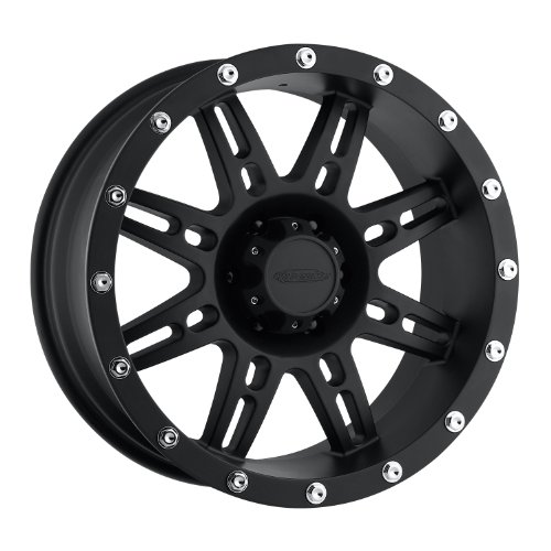 Series 7031, 17x9 with 6 on 5.5 Bolt Pattern - Flat Black