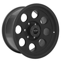 Series 7069, 17x9 with 6 on 5.5 Bolt Pattern - Flat Black Machined