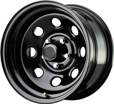 Pro Comp Steel Wheels Series 97 Gloss Black 15x8 5x4.5 4.5BS Offset 0mm Cap P/N 1330018 97-5866