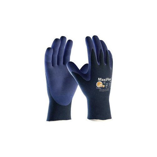 Protective Industrial Products� Medium MaxiFlex� Elite by ATG� Ultra Light Weight Blue Micro-Foam Nitrile Palm And Fingertip Coa