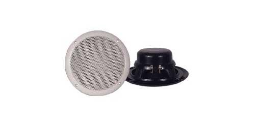"6.5"" FULL RANGE WATERPROOF SPEAKER (PAIR)(WHITE)"