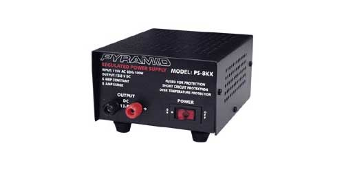 6 AMP CONSTANT/8 AMP SURGE POWER SUPPLY