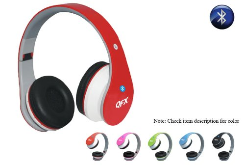 QFX H251BTRED RED FOLDING BLUETOOTH HEADPHONES WITH FM RADIO