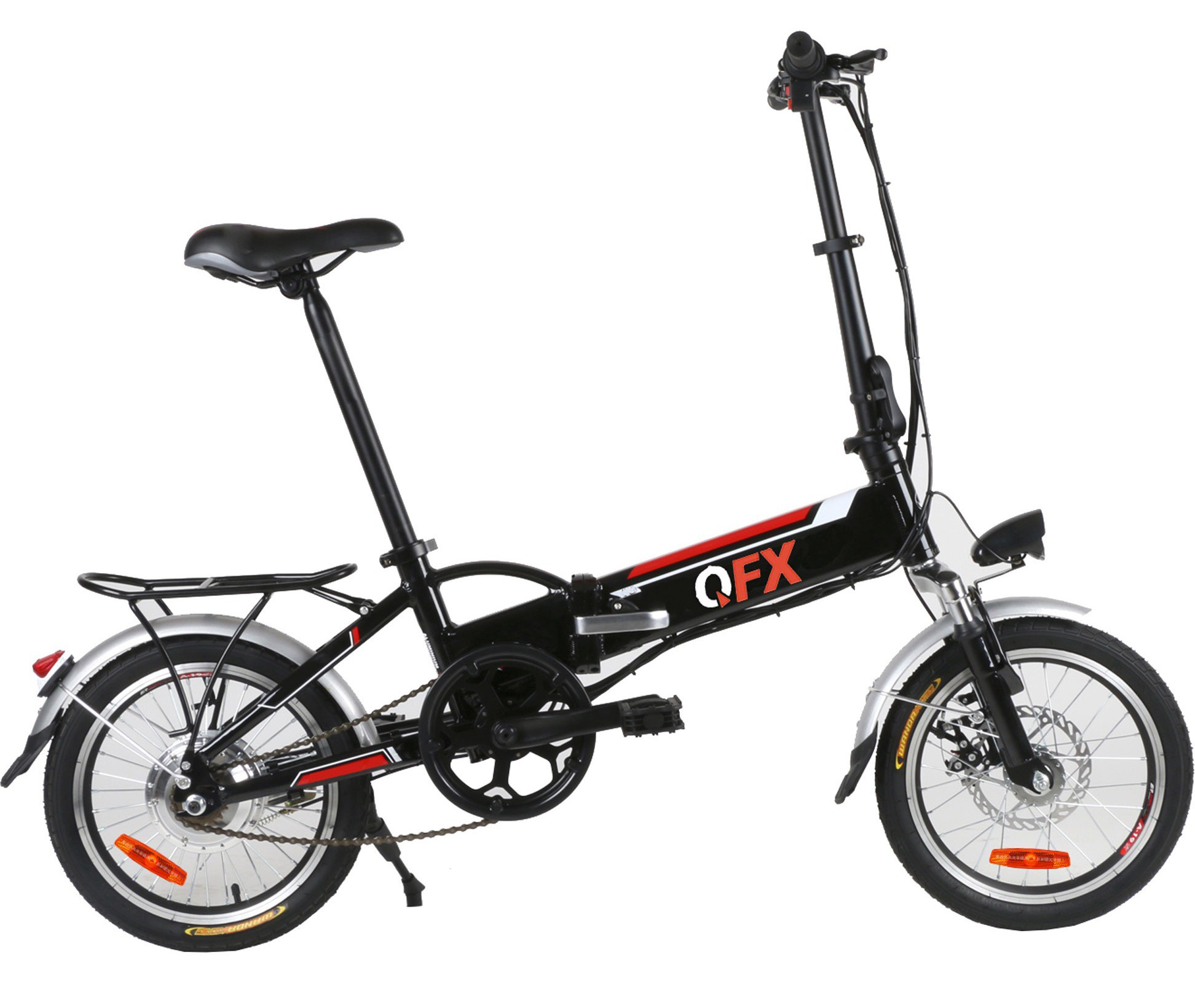 QFX BIK20BLACK BLACK  UNFOLD & GO 20IN 250 WATT ELECTRIC BIKE