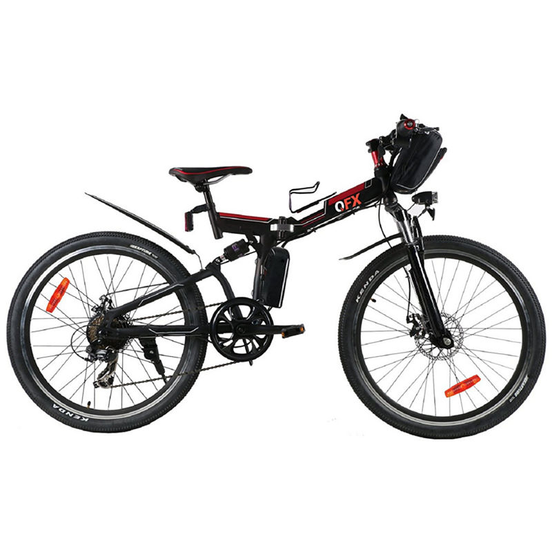 QFX BIK26BLACK BLACK UNFOLD & GO 26IN 250 WATT ELECTRIC BIKE