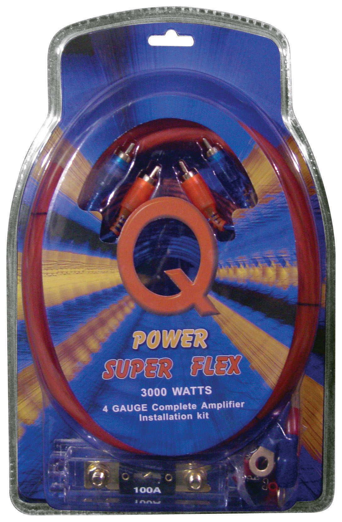 Qpower 4 Gauge Amp Kit Super Flex