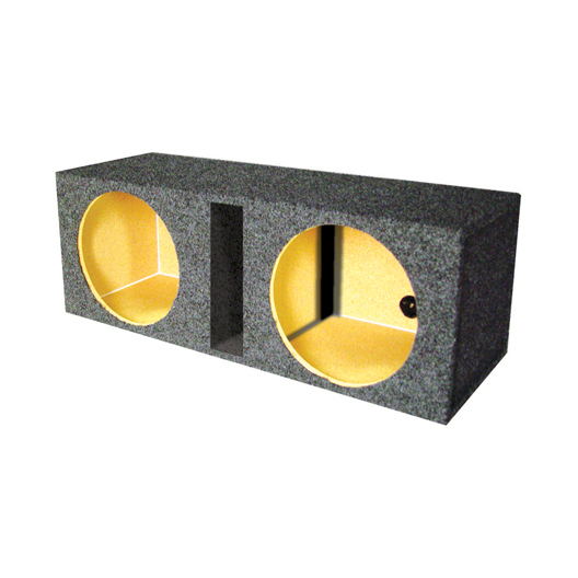 "EMPTY WOOFER BOX DUAL 10"" MDF VENTED BASS BOX"