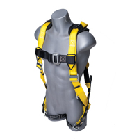 Guardian Fall Protection Seraph Safety Harness With Leg Tongue Buckles, X-Large - 2X-Large, Blue