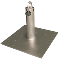 Qualcraft Industries CB-12 Roof Anchor, 130 - 310 lb, 16 in L x 16 in W, Steel, Galvanized, Silver