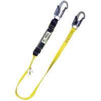 Qualcraft Industries SS72 Shock Absorbing Lanyard, Nylon Webbing, Stainless Steel Leg