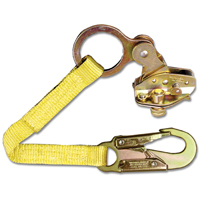 Guardian Fall Protection 1500 Removable Rope Grab With Attached 18 in Extension Lanyard