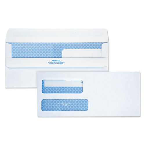 2-Window Security Redi Seal Envelope, #9, 3 7/8 x 8 7/8, White, 250/Carton