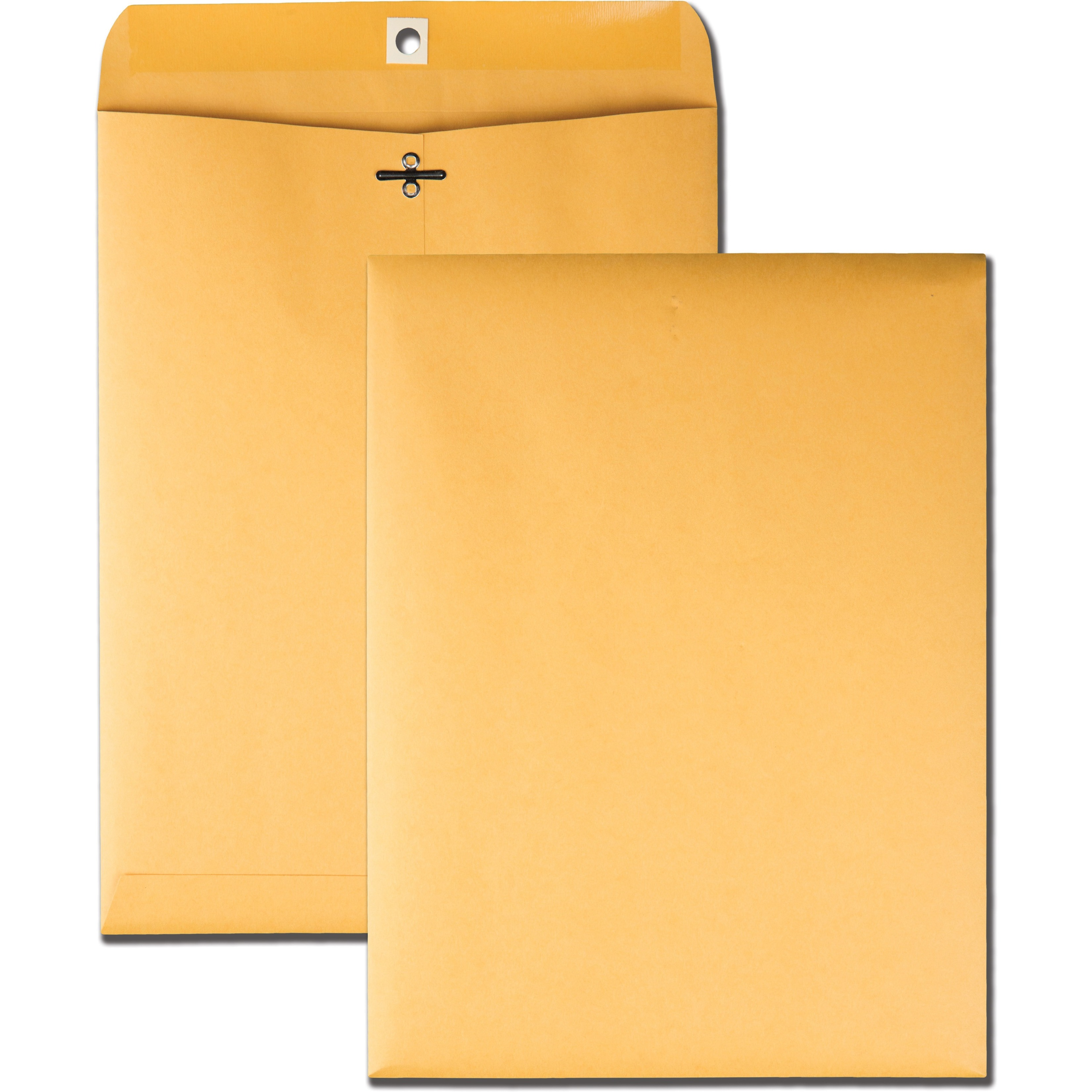 Clasp Envelope, 9 x 12, 32lb, Brown Kraft, 100/Box