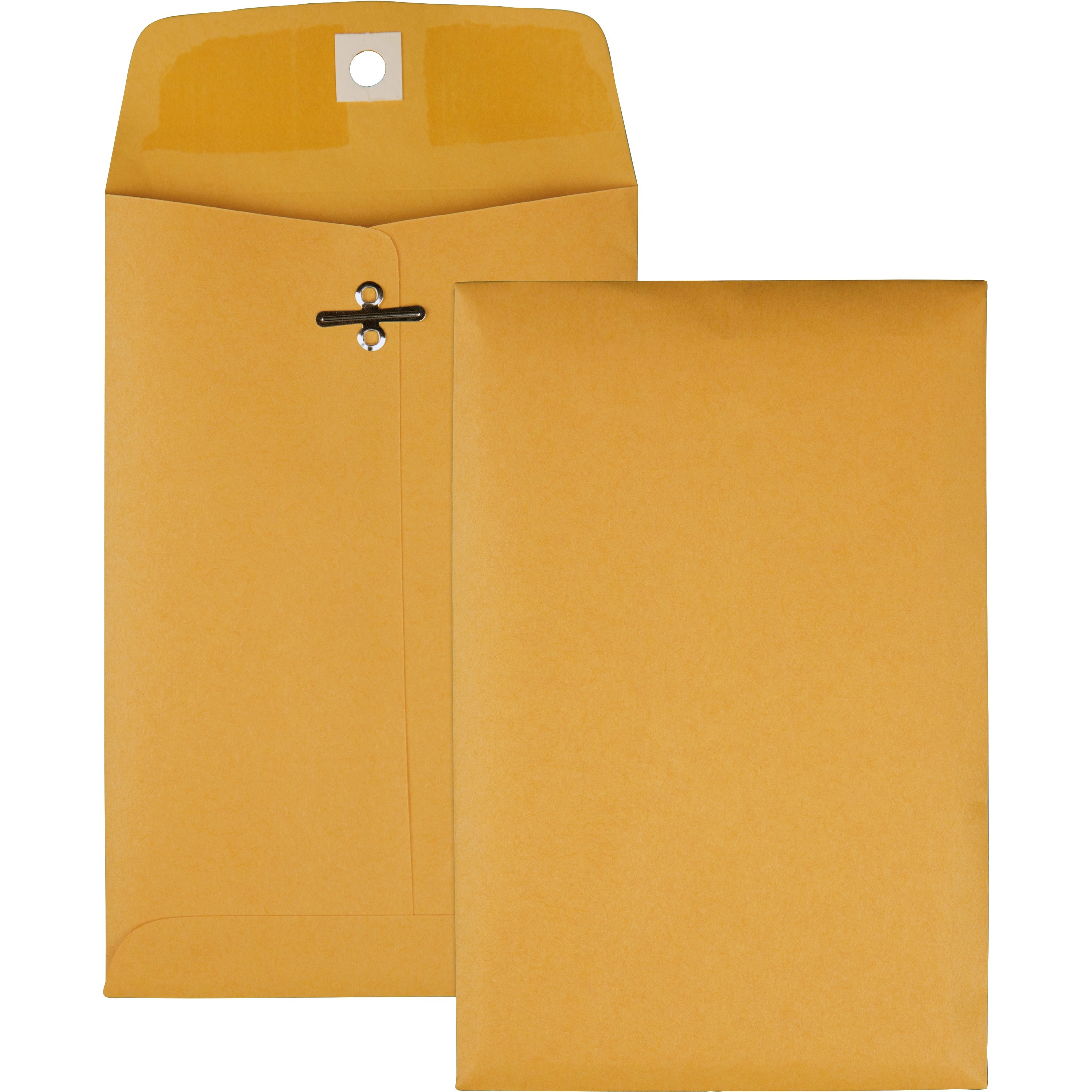 Clasp Envelope, 5 x 7 1/2, 28lb, Brown Kraft, 100/Box