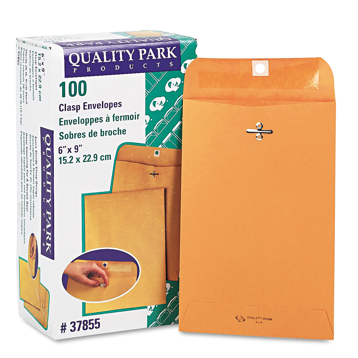 Clasp Envelope, #55, 6 x 9, 28lb, Brown Kraft, 100/Box