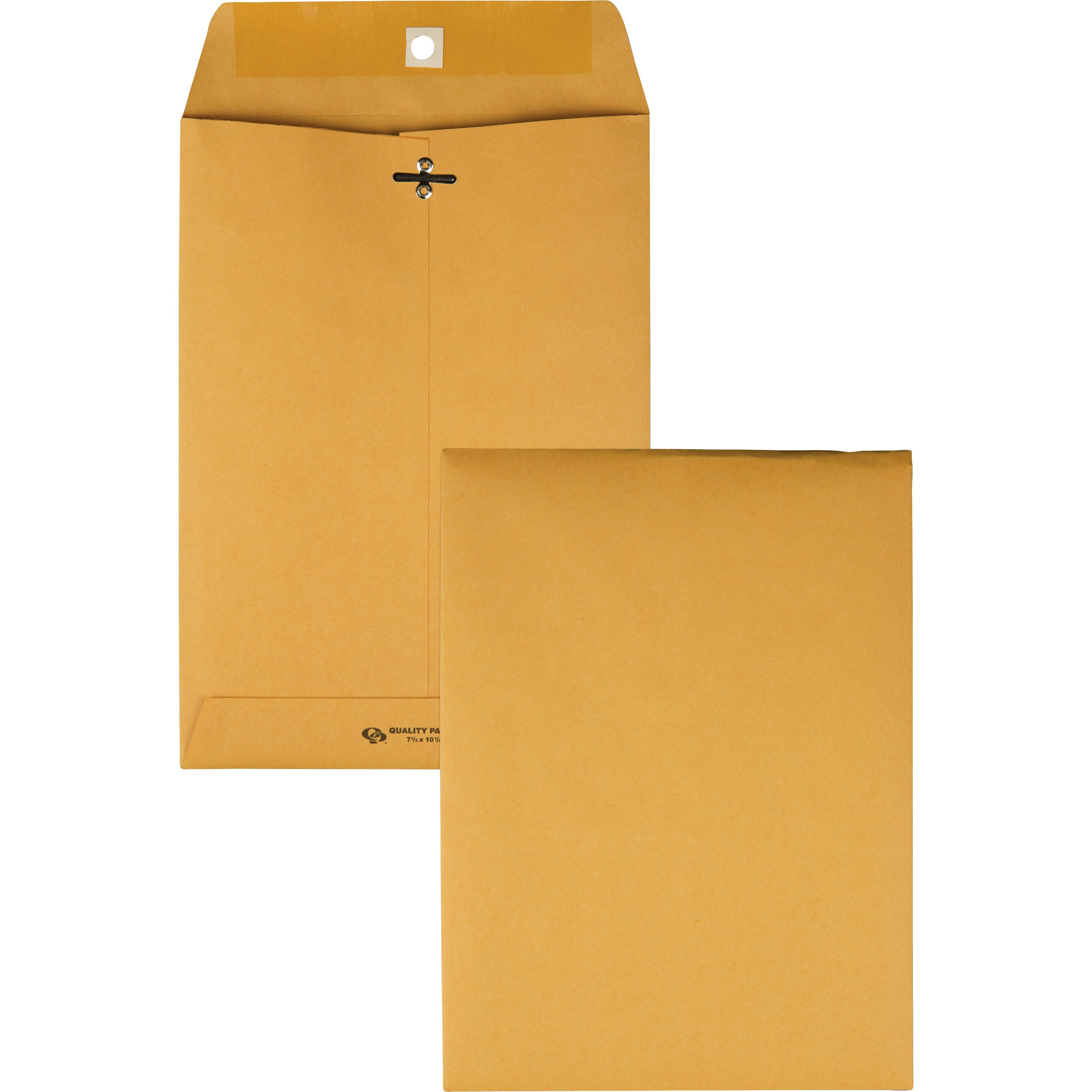 Clasp Envelope, 7 1/2 x 10 1/2, 28lb, Brown Kraft, 100/Box
