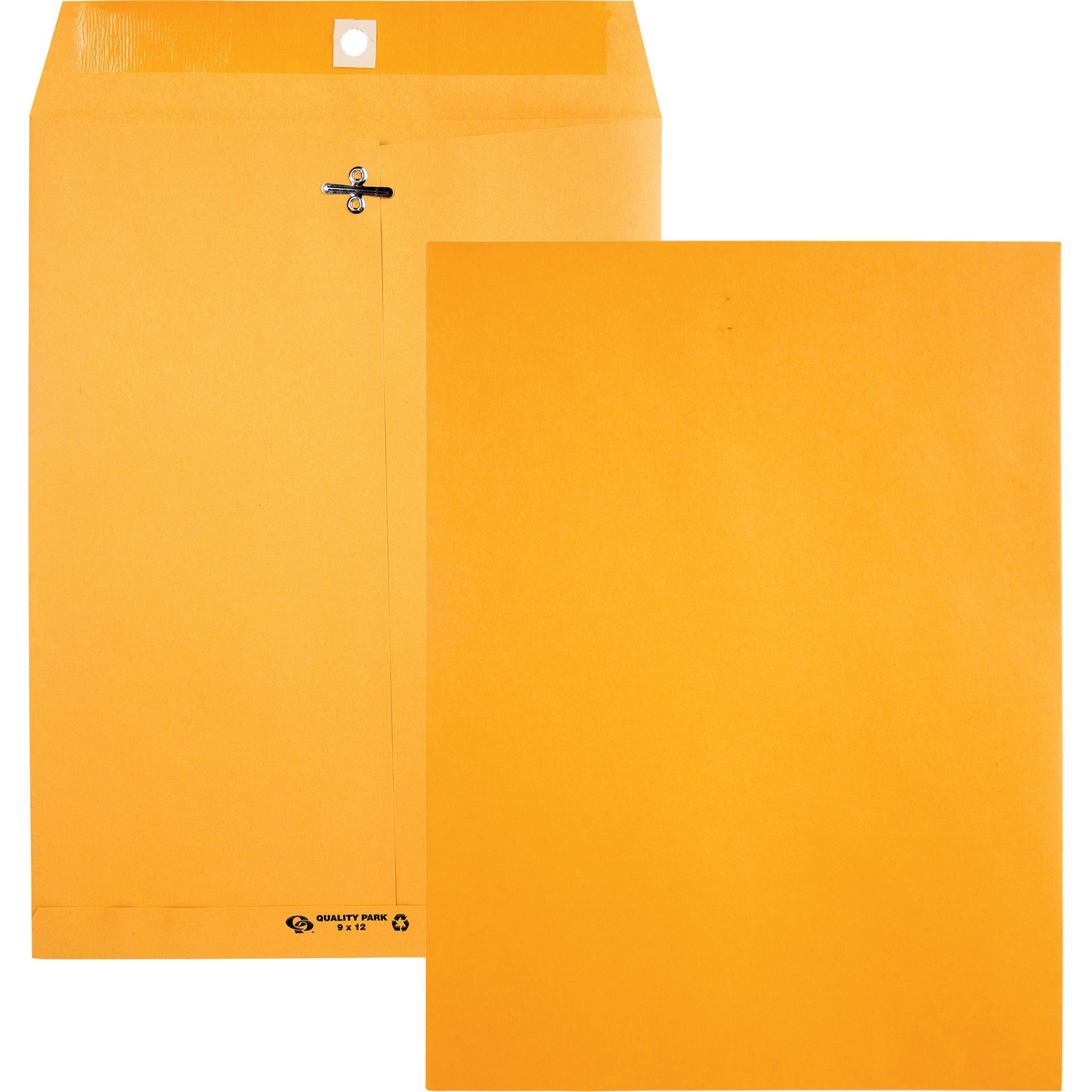 Clasp Envelope, Recycled, 9 x 12, 28lb, Light Brown, 100/Box