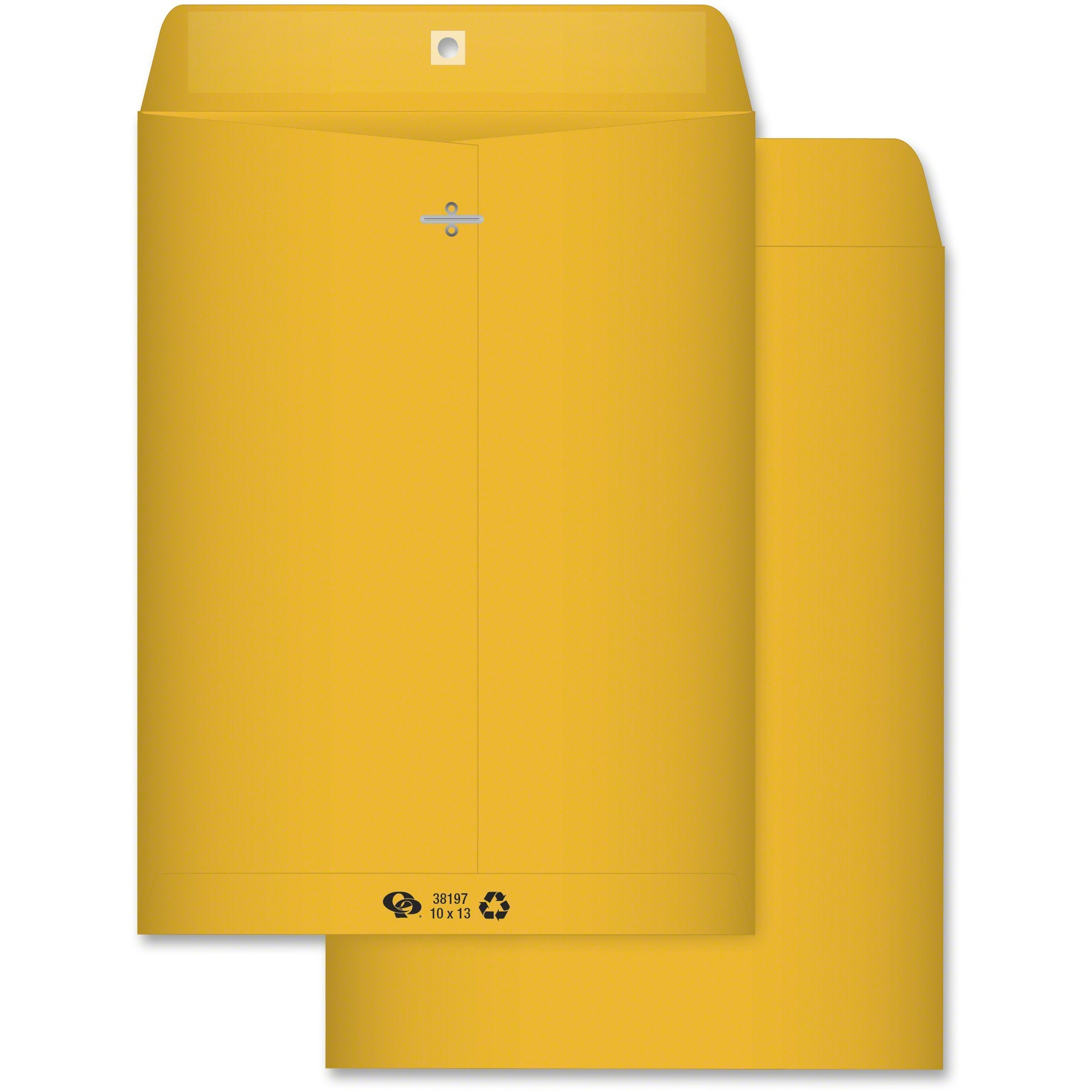 Clasp Envelope, Recycled, 10 x 13, 28lb, Light Brown, 100/Box