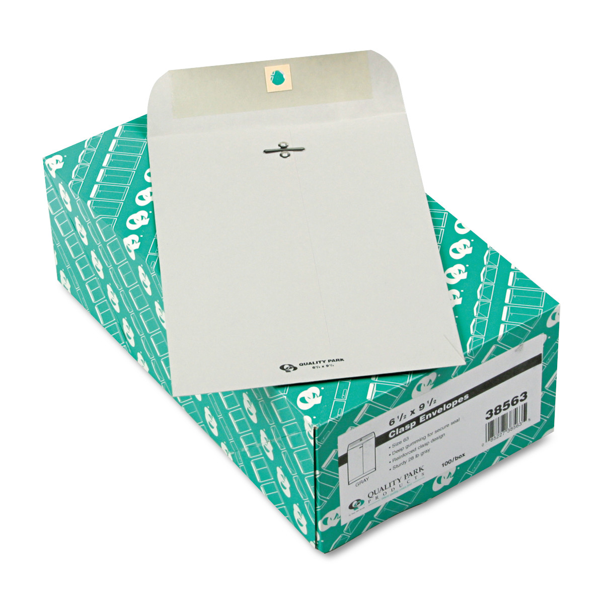 Clasp Envelope, 6 1/2 x 9 1/2, 28lb, Executive Gray, 100/Box