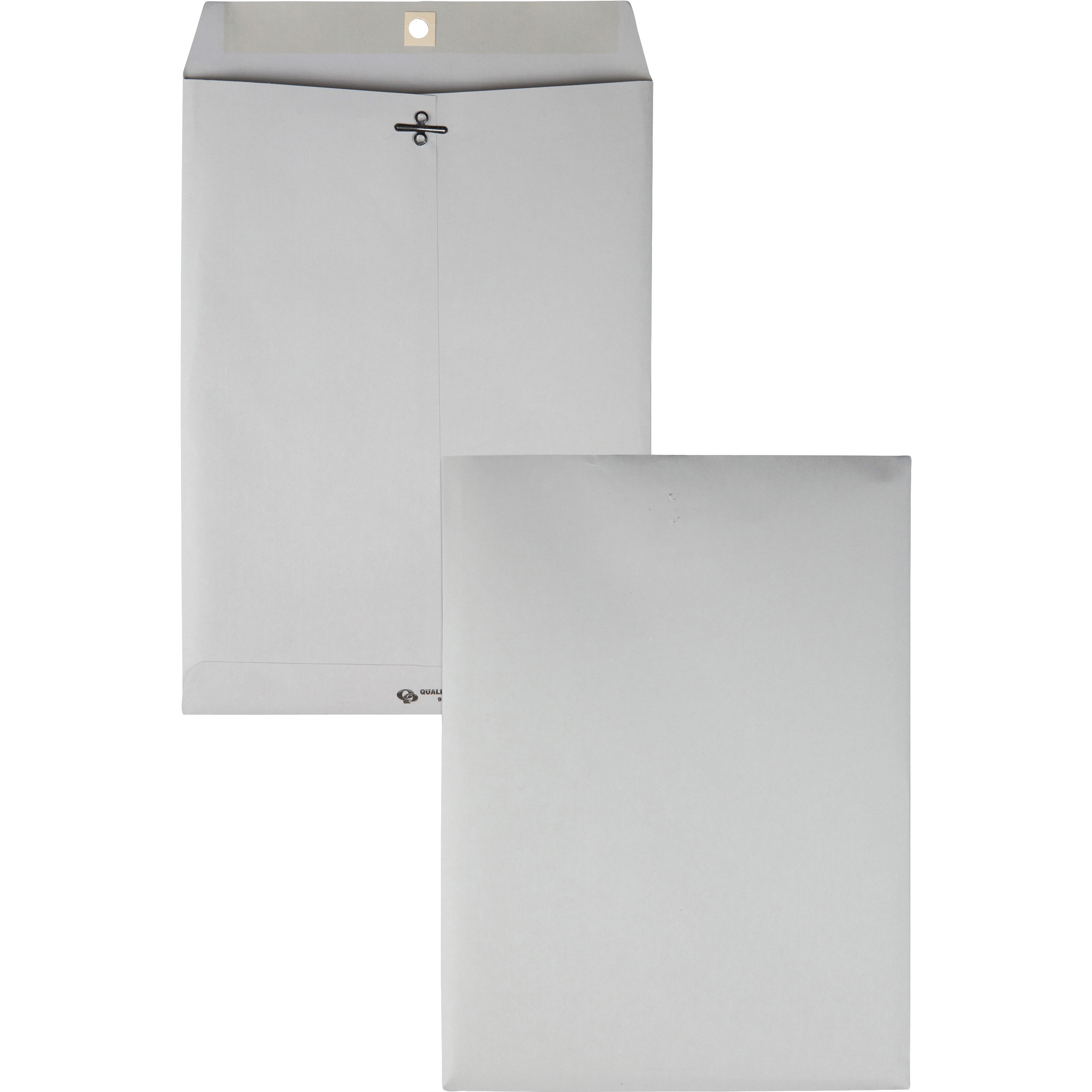 Clasp Envelope, 9 x 12, 28lb, Executive Gray, 100/Box