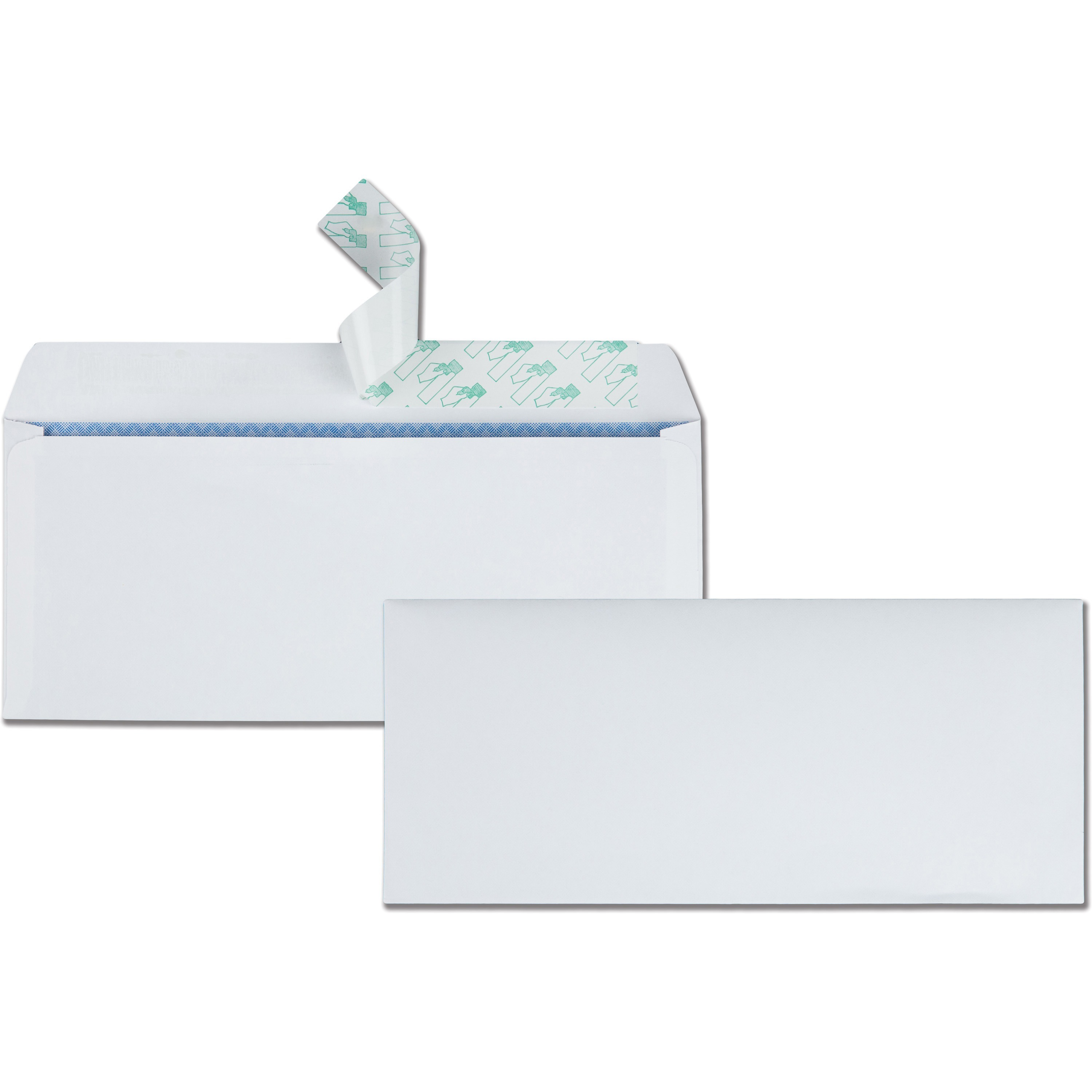 Redi Strip Security Tinted Envelope, #10, 4 1/8 x 9 1/2, White, 500/Box