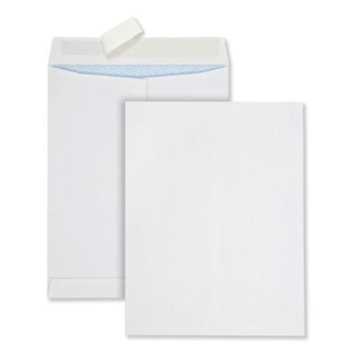 Redi-Strip Security Tinted Envelope, #13 1/2, Square Flap, Redi-Strip Closure, 10 x 13, White, 100/Box