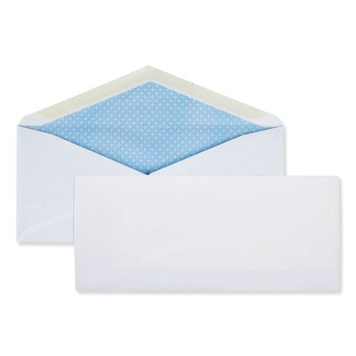 Business Envelope, #10, Monarch Flap, Gummed Closure, 4.13 x 9.5, White, 500/Box