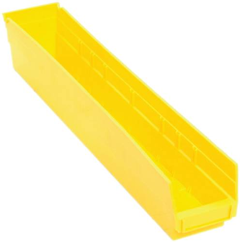 QUANTUM STORAGE SYSTEMS ECONOMY SHELF BIN, 23-5/8 IN. X 4-1/8 IN. X 4 IN., YELLOW