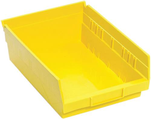 QUANTUM STORAGE SYSTEMS ECONOMY SHELF BIN, 11-5/8 IN. X 8-3/8 IN. X 4 IN., YELLOW