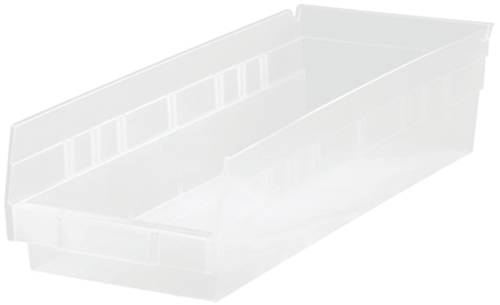 QUANTUM STORAGE SYSTEMS ECONOMY SHELF BIN, 17-7/8 IN. X 8-3/8 IN. X 4 IN., CLEAR