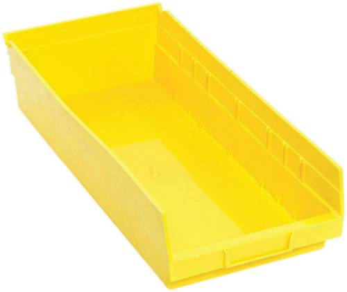 QUANTUM STORAGE SYSTEMS ECONOMY SHELF BIN, 17-7/8 IN. X 8-3/8 IN. X 4 IN., YELLOW