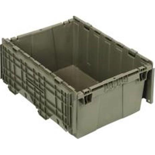 Attached Lid Container 21-Inch by 15-Inch by 9-Inch, Gray