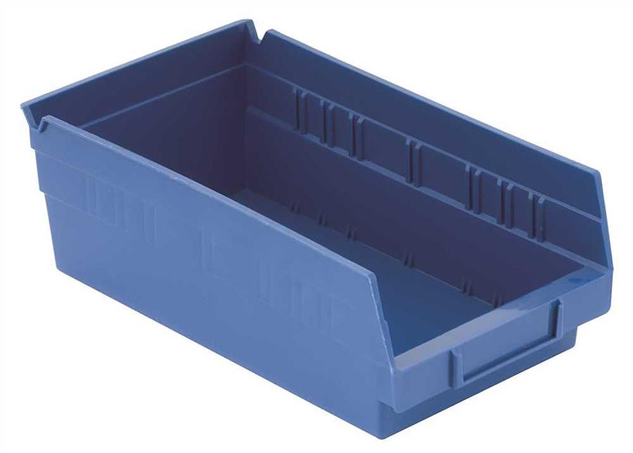 "PLASTIC BIN BOXES 8"" X 12"", BLUE"