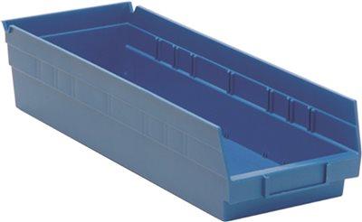 QUANTUM STORAGE SYSTEMS ECONOMY SHELF BIN, 17-7/8 IN. X 6-5/8 IN. X 4 IN., BLUE