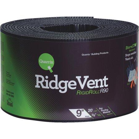 Diversi-Plast 58785 Ridge Vent, 9 in W x 20 ft Roll L x 5/8 in T, Polyethylene