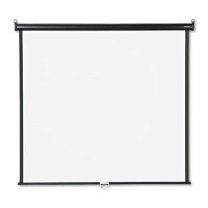 Wall or Ceiling Projection Screen, 60 x 60, White Matte, Black Matte Casing
