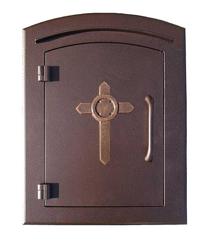 Manchester Mailbox, Cross Logo, Antique Copper