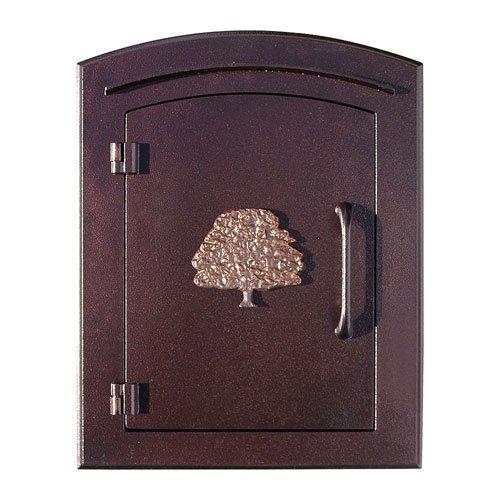 Manchester Mailbox, Oak Tree Logo, Antique Copper