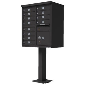 12 Door Cluster Box Unit for Tall Pedestal Stucco Columns, Bronze
